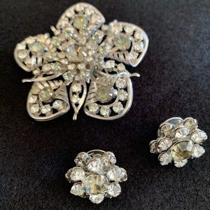 Vintage broach and matching earrings